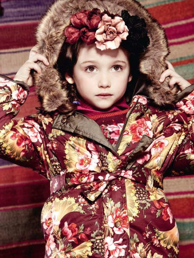 Children Flower Coat