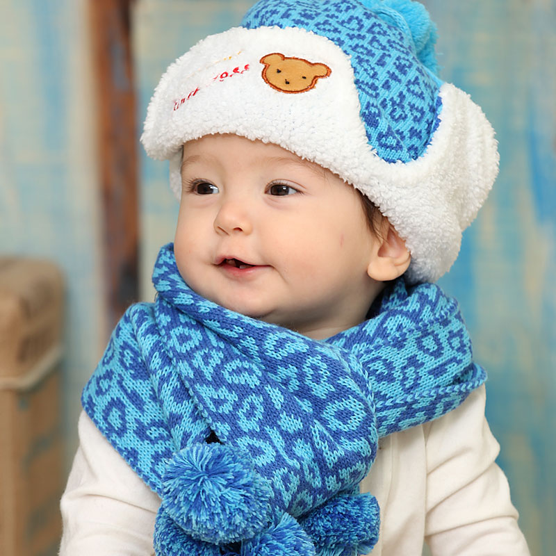 baby scarf hat set