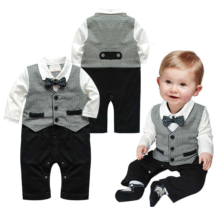 gentleman suit infant romper