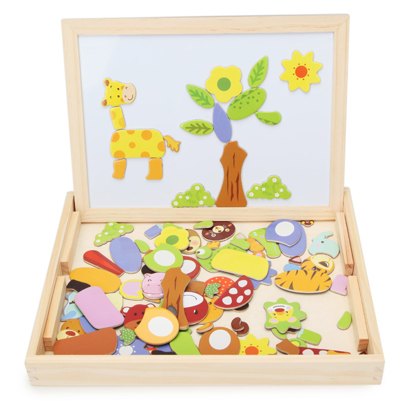Baby Wooden Drawing Magnetic Puzzle