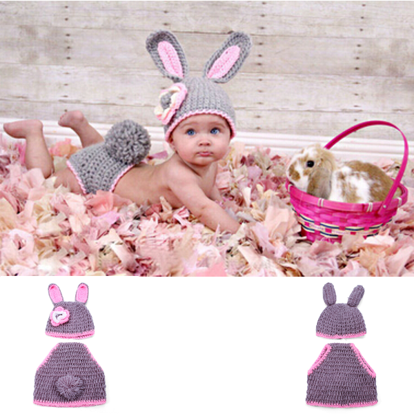 rabbit crochet photography costume